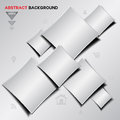 Abstract silver Geometrical vector background Royalty Free Stock Photo