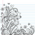 Abstract Sketchy Notebook Doodles Stock Image