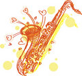 Abstract Sketchy Sax Stock Images