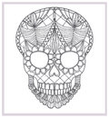 Abstract skull lace ornament. Royalty Free Stock Photo