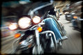 Abstract slow motion, bikers riding motorbikes Stock Image