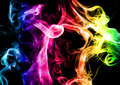 Abstract smoke on dark background