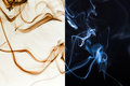 Abstract smoke form on background Stock Photos