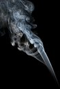 Abstract smoke isolated on black background Royalty Free Stock Image