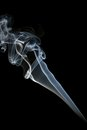 Abstract smoke isolated on black background Royalty Free Stock Photos