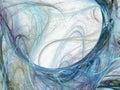 Abstract smoke swirls. Fractal illustration. Royalty Free Stock Photo
