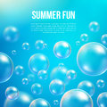 Abstract soap bubbles vector background Royalty Free Stock Photo