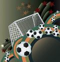 Abstract soccer background. Stock Photography