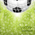 Abstract soccer football background design with light dots Stock Images