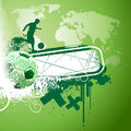 Abstract soccer vector Royalty Free Stock Image