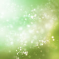 Abstract soft lights background on green colored Royalty Free Stock Image