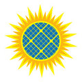 Abstract solar panel icon