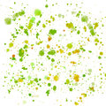 Abstract sophisticated wonderful gorgeous elegant graphic beautiful colorful yellow orange green and lime splashes and drops Royalty Free Stock Photo
