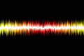 Abstract sound wave on black background Royalty Free Stock Image