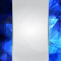 Abstract space blue card or invitation template with triangle pattern background and place for text in the center Royalty Free Stock Photos