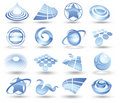 Abstract space icons Royalty Free Stock Photo