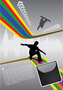 Abstract space skateboarding Stock Photos