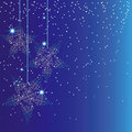 Abstract sparkle blue christmas background Royalty Free Stock Image