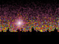 Abstract sparkling colorful night light background Stock Photos
