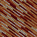 Abstract speckled lines pattern. Diagonal bead stripes. Seamless pattern. Royalty Free Stock Photo