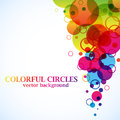Abstract spectrum circles Royalty Free Stock Photography