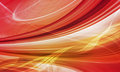 Abstract speed background red yellow curved shapes dynamic motion computer generated illustration Stock Photography