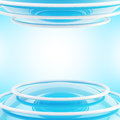 Abstract sphere and rings light background Royalty Free Stock Photo