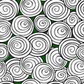 Abstract spiral background. Monochrome Vector seamless pattern. Royalty Free Stock Photo
