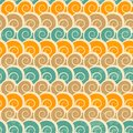 Abstract spiral beach seamless pattern with grunge effect Royalty Free Stock Photo