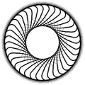 Abstract spiral element, motif isolated on white background Royalty Free Stock Photo