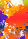 Abstract splatter background colorful canvas Stock Images