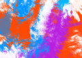 Abstract splatter background colorful canvas Royalty Free Stock Photos