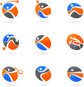 Abstract sport icons Royalty Free Stock Photography