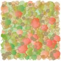 Abstract spots pattern red and green accumulation in joyful Stock Photos