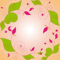 Abstract springtime floral frame Royalty Free Stock Photography