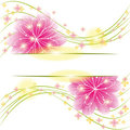 Abstract springtime flower greeting card Stock Photos