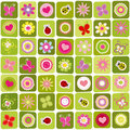 Abstract springtime seamless pattern background Stock Images