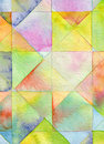 Abstract square watercolor background painted Royalty Free Stock Image