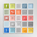 Abstract squares colorful info graphic template vector eps Royalty Free Stock Photography
