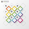Abstract squares concept. Infographic design template. Vector illustration