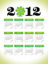 Abstract st patrick clover calender Royalty Free Stock Image