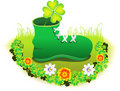 Abstract st patrick shoe Stock Image