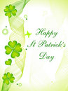Abstract st patricks day card Stock Images