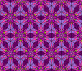Abstract stained glass pattern seamless mosaic geometric ornament texture in purple colors fancy multicolored background ethnic Royalty Free Stock Image