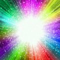 Abstract star-burst in vibrant colors Royalty Free Stock Photo