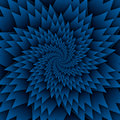 Abstract star mandala decorative pattern blue background square image, illusion art image pattern, background photo Royalty Free Stock Photo