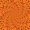 Abstract star mandala decorative pattern orange background square image, illusion art image pattern, background photo Royalty Free Stock Photo