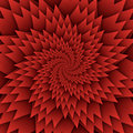Abstract star mandala decorative pattern red background square image, illusion art image pattern, background photo Royalty Free Stock Photo