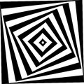 Abstract star Spiral Black and White Pattern Royalty Free Stock Photo