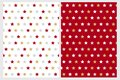 Abstract Star Vector Patterns. Red, Gold, Gray and White Design.